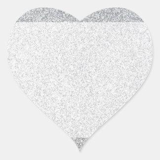 Tom mall för silverglitter hjärtformat klistermärke