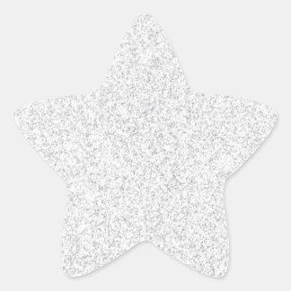 Tom mall för silverglitter stjärnformat klistermärke