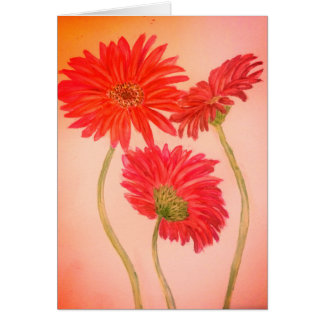 Tom målning för blomma för akvarell för hälsningskort