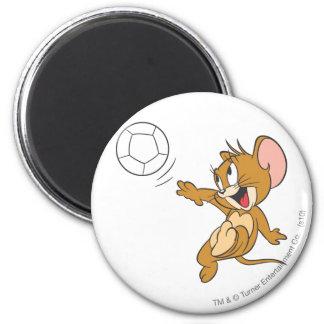 Tom och Jerry fotboll (fotboll) 1 Magnet Rund 5.7 Cm
