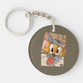 Tom och Jerry   Tom och Jerry Mashup Dubbelsidigt Rund Akryl Nyckelring