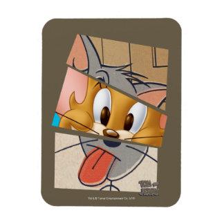 Tom och Jerry   Tom och Jerry Mashup Rektangulär Magnet