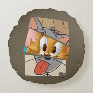 Tom och Jerry   Tom och Jerry Mashup Rund Kudde