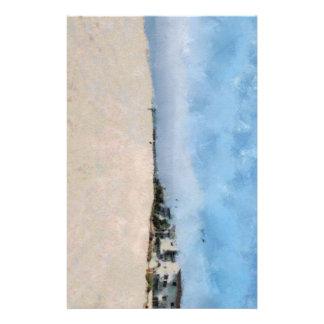 Töm stranden i Virginia. Brevpapper