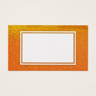 Tom visitkort för guld- orange glittergnistra
