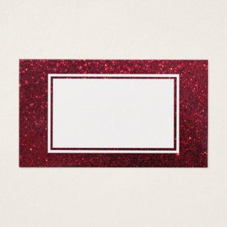 Tom visitkort för röd glittergnistra