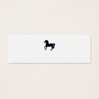 Tom visitkort för svart hästsilhouette
