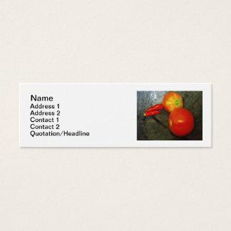 Tomat- och Chilipepparvisitkortar Litet Visitkort