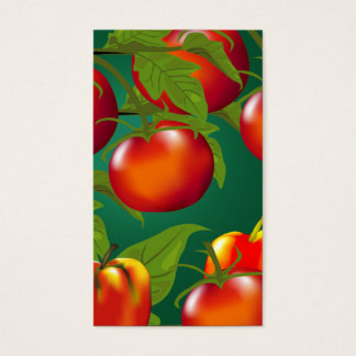 Tomat- och spansk peppargåvamärkre visitkort