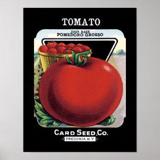 Tomaten kärnar ur paketetiketten poster