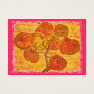 tomaten samla i en klunga akvarell visitkort
