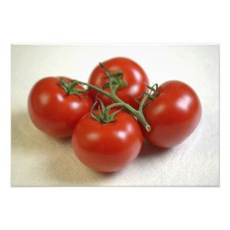 Tomater på vinen för använda i USA endast.) Fototryck