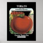 Tomatvintage kärnar ur paketet print