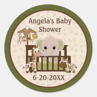 Tomma etiketter för elefantbaby shower/sälar NALI