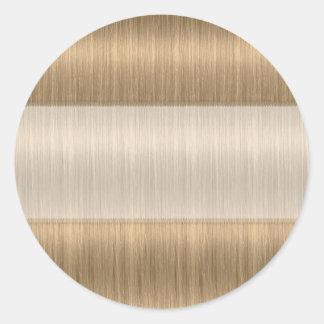 Tomma klistermärkear för mörkare blond runt klistermärke