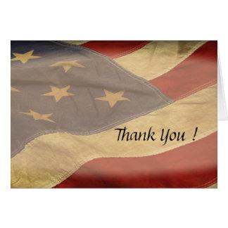 Tomma tackkort för amerikanska flaggan OBS kort