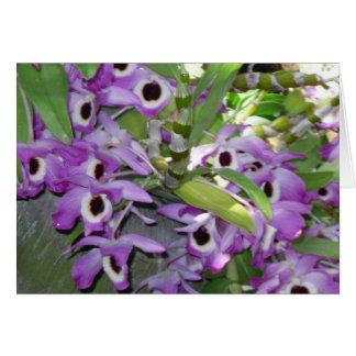 tomt hälsningkort för purpurfärgad orchid hälsningskort