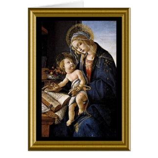 Tomt kort - Madonna och barn