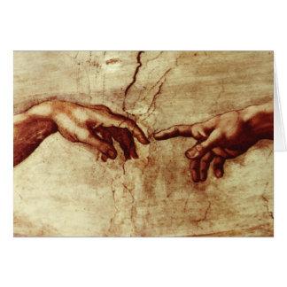 Tomt Michelangelo Sistene kapell Hälsningskort