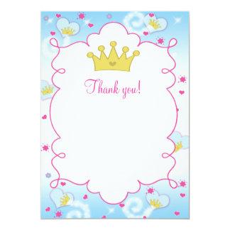 Tomt tackkort för Princess Fjäril 12,7 X 17,8 Cm Inbjudningskort