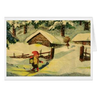 Tomten julkort hälsningskort