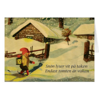 Tomten julkort med den Viktor Rydberg dikt Hälsningskort
