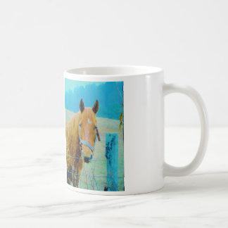 Tonad häst för Denim blått Kaffemugg