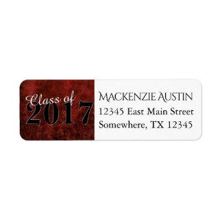 Tonar den röda & svart marmorjuveln för rubyen det returadress etikett