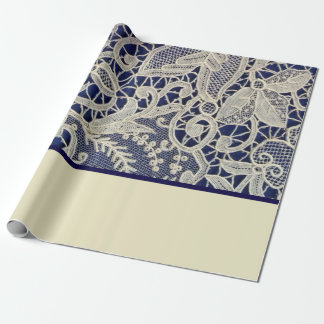 Tonar marinblå elegant två för elfenbensnöre presentpapper