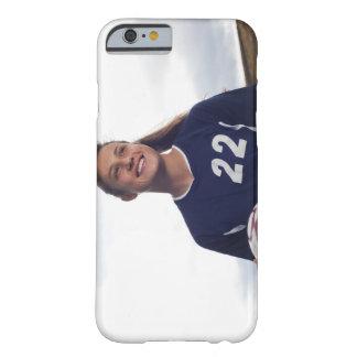 tonåring boll för fotboll för flickafotbollspelare barely there iPhone 6 fodral