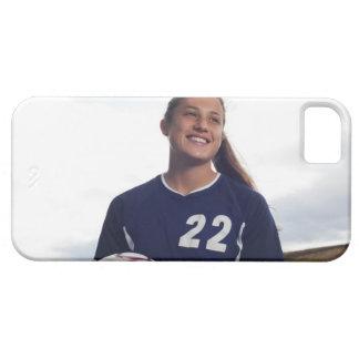tonåring boll för fotboll för flickafotbollspelare iPhone 5 Case-Mate cases
