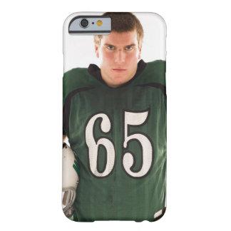 Tonåring den hållande hjälmen för fotbollsspelare, barely there iPhone 6 fodral