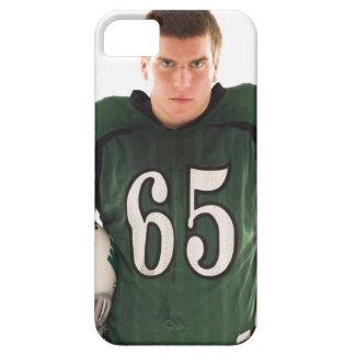 Tonåring den hållande hjälmen för fotbollsspelare, iPhone 5 Case-Mate skydd