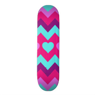 Tonåring den rosa krickan för gulliga sparrehjärto old school skateboard bräda 21,6 cm