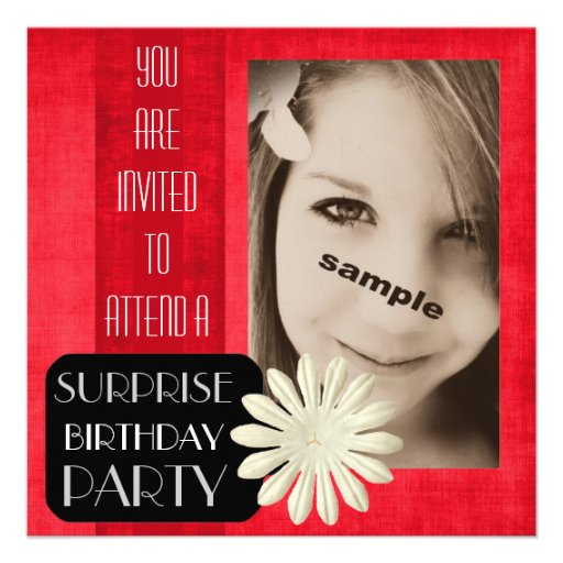 Tonåring flickaöverrrakningfödelsedagsfesten! Shoc Anpassningsbara Tillkännagivanden
