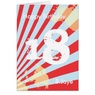 Tonåring födelsedagsfestinbjudan/tacka dig | kort OBS kort