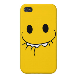 toothy flin smiley face iPhone 4 skydd