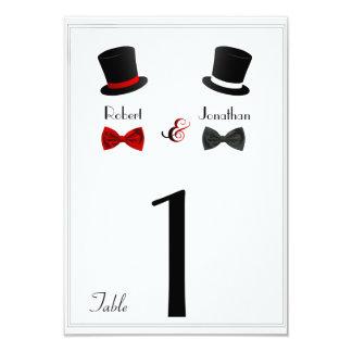 Top hat och glad gifta sig bordsnummer för flugor 8,9 x 12,7 cm inbjudningskort