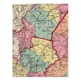 Topografisk kartbok av Maryland län Vykort