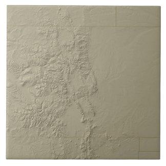 Topographic karta av Colorado Kakelplatta