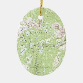 Topographic karta julgransprydnad keramik
