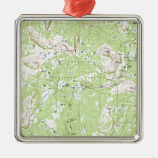 Topographic karta julgransprydnad metall