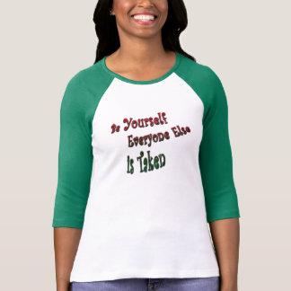 Toppar med inställning t-shirt