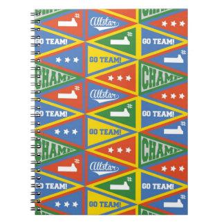 Toppen anteckningsbok för mönster för
