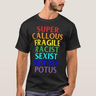 Toppen Callous rasist inte min POTUS, politiskt Tee Shirts