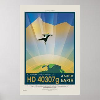 Toppen jord turnerar - Retro NASA reser affischen Poster