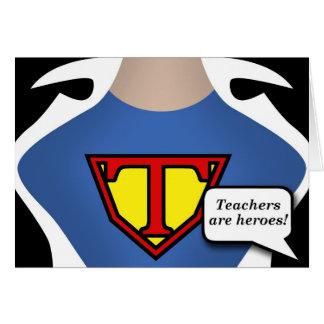 Toppen lärare hälsningskort