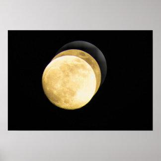Toppen måne HD Affisch