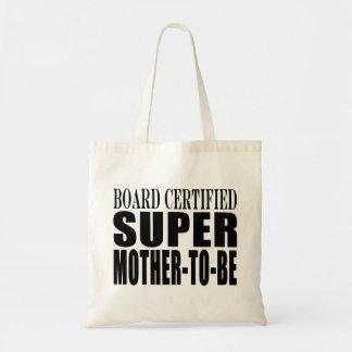 Toppen mor för framtida baby shower för mammor rol budget tygkasse