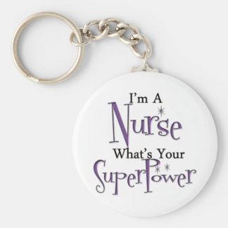Toppen sjuksköterska rund nyckelring